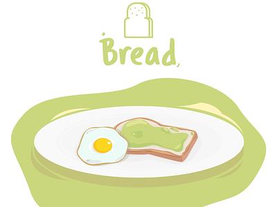 Bread - Illustration graphic  design graphicdesign graphic green eggs breakfast bread breadillustration vector artwork illustrator illustration vector