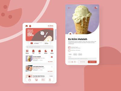 Desserts UI Concept -  Eat for every need