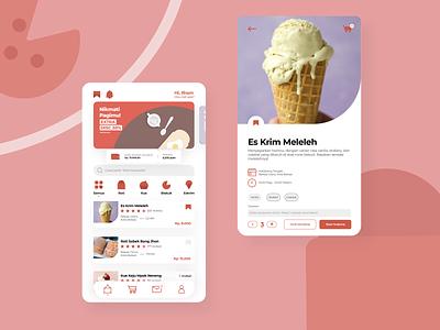 Desserts UI Concept -  Eat for every need ui design ice cake app design app uiuxdesigner uiuxdesign uidesign uiux userexperience user experience design ux user interface design user experience user interface userinterface ui
