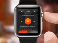 Soundcloud concept iWatch app