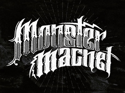 Monster Magnet Type Treatment hand made typography