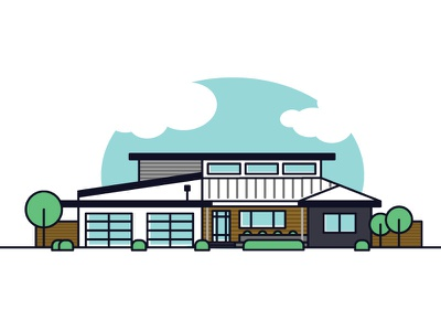 House Lineart line art