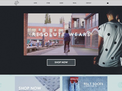 Resolute Wears Homepage webdesign website ecommerce bigcartel e-commerce e commerce shopping store webstore