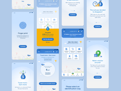 Abroad insurance App uidesigns uxdesigns design ui ux apps insurance uidesign uxdesign productdesign uxui uxuidesign appdesign blue