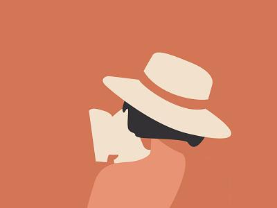 Morning reading book reading woman minimal print illustration icon image flat character woman