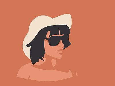 After Reading sun glasses glasses portrait flat illustration