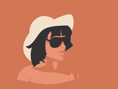 After Reading sun glasses glasses portrait flat illustration