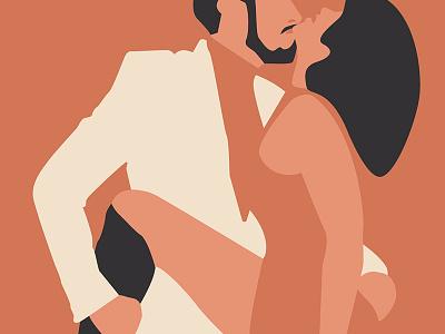 Tango Apasionado tuxedo dancing girl guy drawing flat design illustration tango