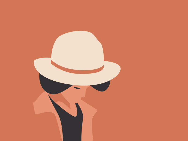 A Lovely Hat hat design boy hat vector flat illustration