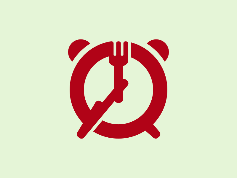 Lunch Time Icon icon logo watch time restaurant reminder meal lunch knife fork fast food eating eat dinner clock cafe break alarm