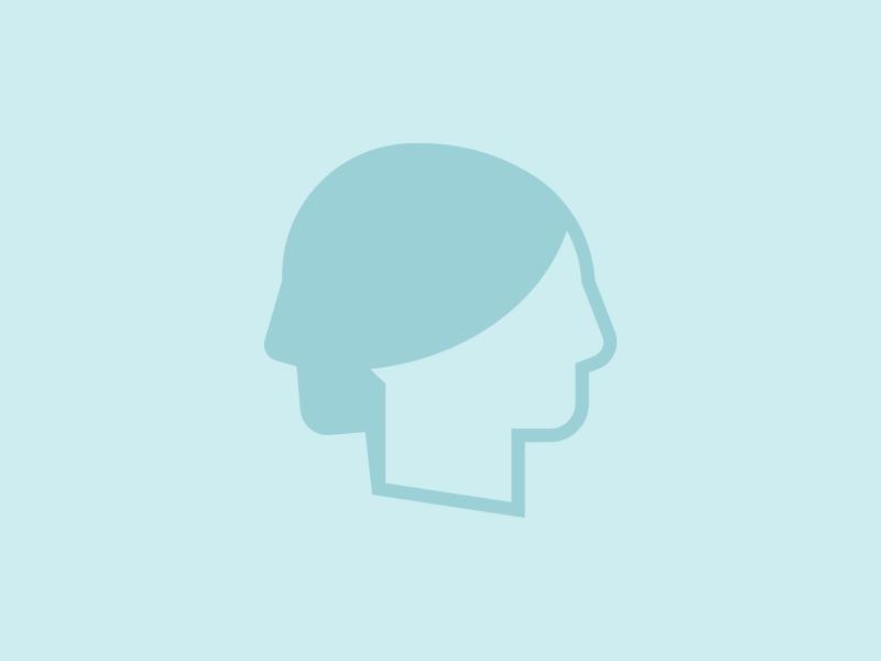 Duality of Human Nature Icon woman psychology psychologist profile people mind man logotype logo icon head duality avatar