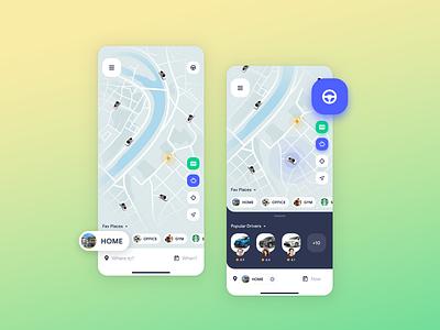 Uber App Concept II mobile app design mobile design inspiration web designer app designer ux designer ui designer