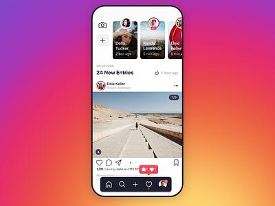 Instagram Homepage Redesign app designer mobile designer ui designer ui design ux designer inspiration design ui