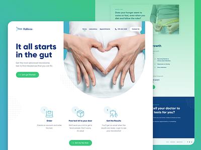 Landing Page - Healthcare Industry healthcare inspiration website ux designer ui designer landing design