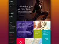 Tile-like layout. WP theme