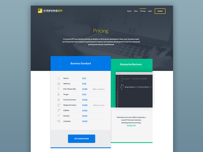 Pricing page - Option 2 ui ux pricing page tables psd web design