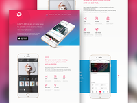 Landing Page for mobile APP