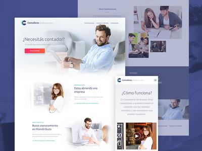 Contadores de BsAs - Mobile & Desktop Website Design