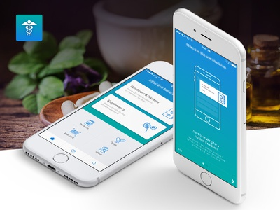 Healthcare Mobile App - iOS - Android mobileapp app uidesign uxdesign inspiration ios android medicine webdesigner natural fresh trend