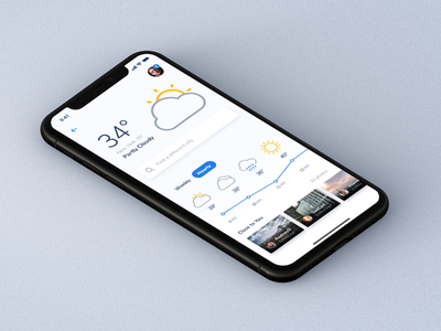 Sneak Peek - Weather App designer design ux ui iphonex ios app mobile inspiration