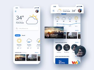 Weather Community Mobile App - Concept Design designer design ux ui iphonex ios app mobile inspiration