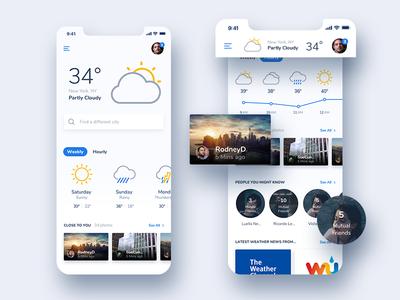 Weather Community Mobile App - Concept Design