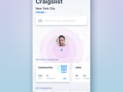 Rethinking Craigslist ux design ui inspiration craigslist ios app mobile