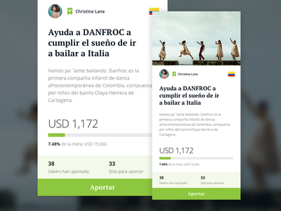 Crowdfunding ux ui inspiration design crowdfunding