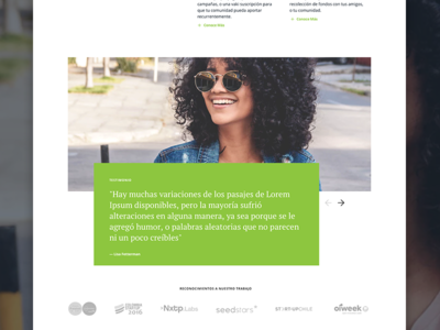 Crowdfunding Website - Testimonials