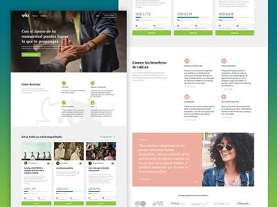 Crowdfunding website website design web ux ui
