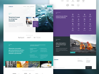 Corporate Landing Page UI UX Design inspiration landing page responsive webdeisgn ui ux