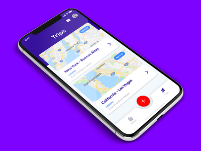 List of trips by Origin-Destination - Mobile app redesign