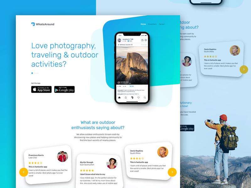 Landing Page - Social Media Application uxdesigner uidesigner dailyui uidesign landing inspiration website web design ux ui