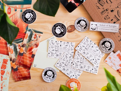 New branding identitydesign branding design packaging lucky cat cat stickers cute illustration japan cute logo brand identity brand