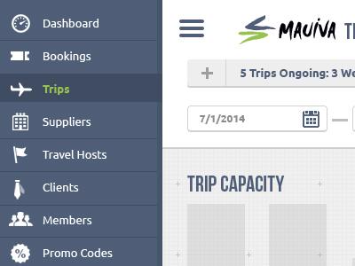 Trip Management Redesign ui navigation