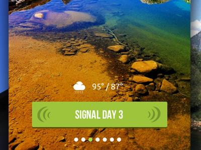 Signal  ui mobile app