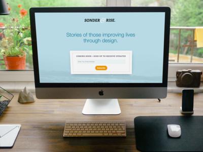 Sonder & Rise Splash Page splash page landing page