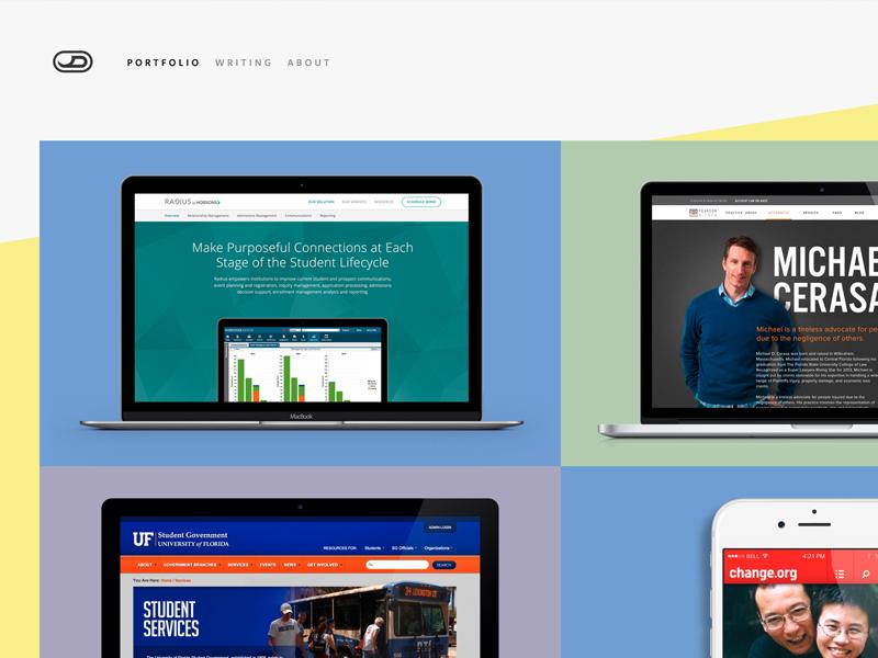 Portfolio Redux landing page portfolio