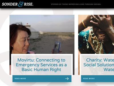 Sonder & Rise website editorial