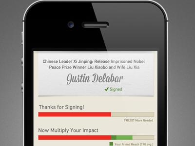 Signed! mobile ui app