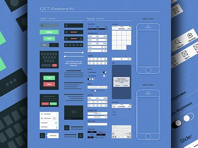 iOS7 Wireframe free template psd design freebie wireframe ios7 ios wireframes iphone ux ui