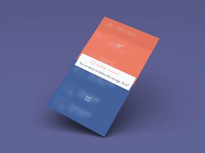 Conformation Popover ios clean minimalist flat popovers message app ui ux ios7 colors design