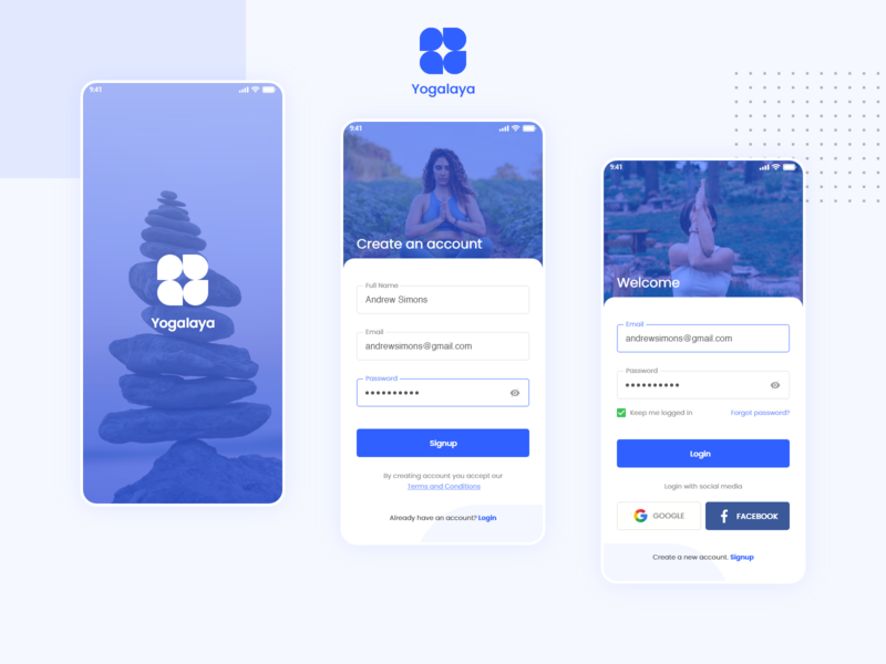 Daily Ui Challenge Day 1 (Login/Signup) flat design mobile app design ux ui