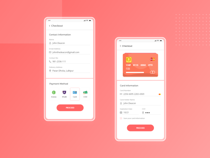 Daily Ui Challenge Day 2 (Credit card checkout) ux ui mobile app design