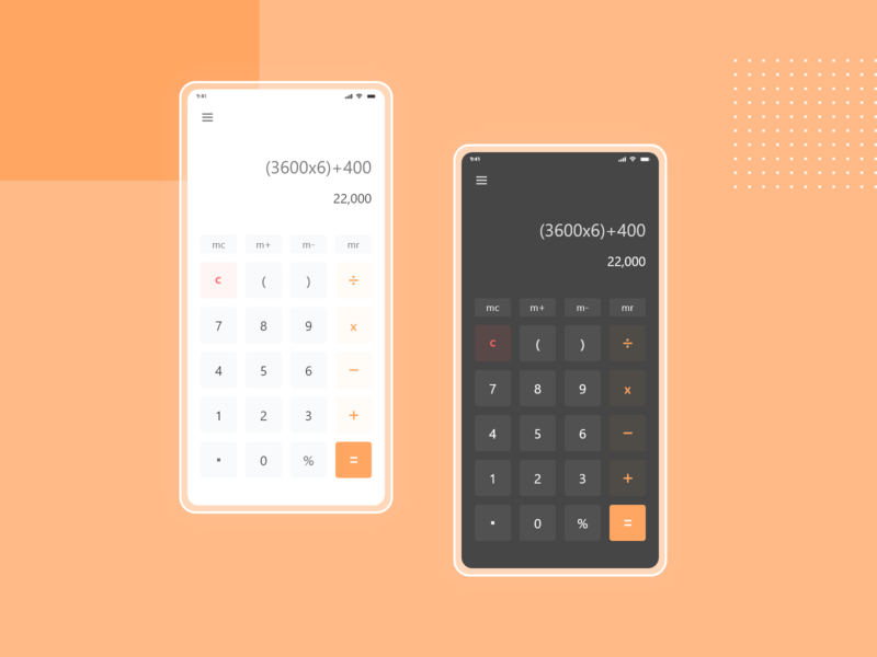 Daily Ui challenge Day 4 (Calculator) dailyuichallenge ux ui