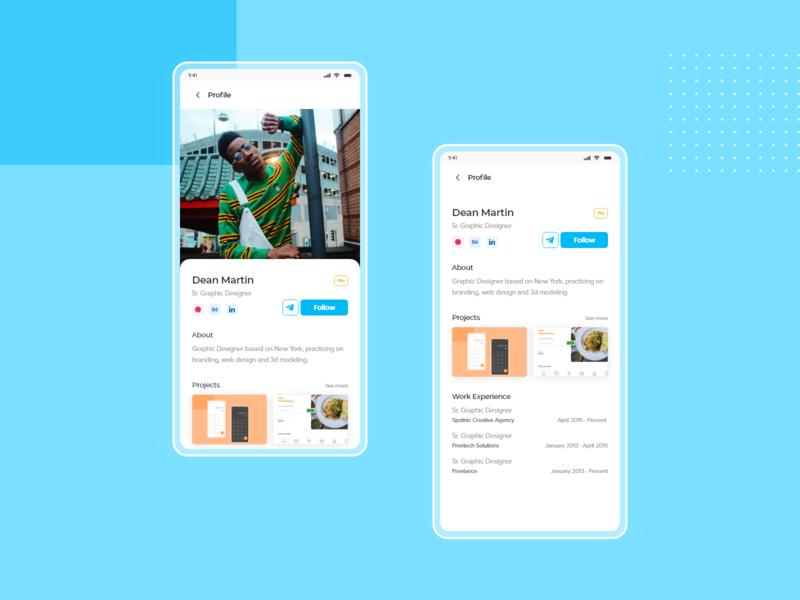 Daily Ui Challenge Day 6 (Profile) uiux mobile app design design ui dailyui