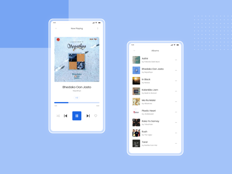 Daily UI Challenge Day 9 (Music Player) flat ui mobile app design design daily 100 challenge dailyui