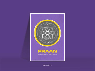 PRAAN graphicdesign minimal poster design