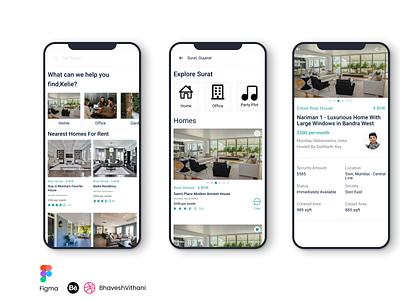 Rental App UI/UX Design designer app design ui mobile ui figma app