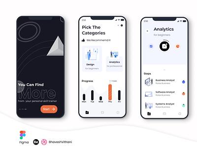 Skillstime Mobile App UI Design designer app design ui mobile ui figma app
